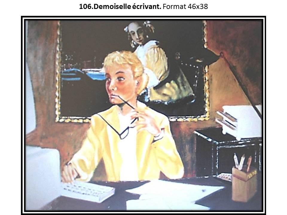 106 demoiselle ecrivant 1
