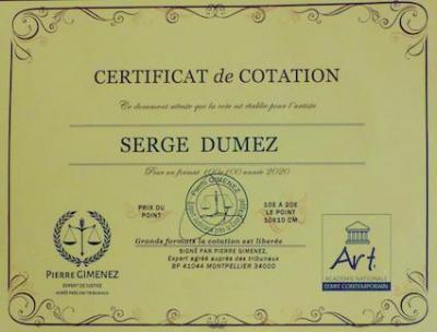 Certificat cotation photo
