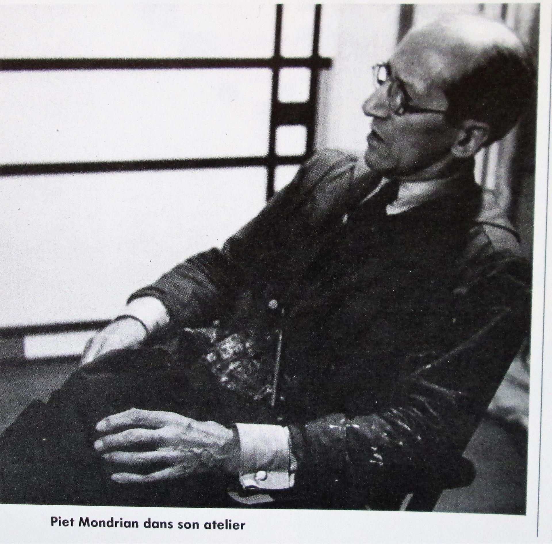 Piet Mondrian . Son portrait photo