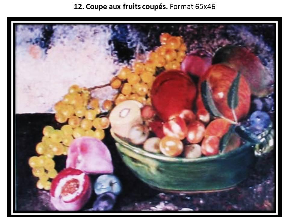 12 coupe aux fruits coupes