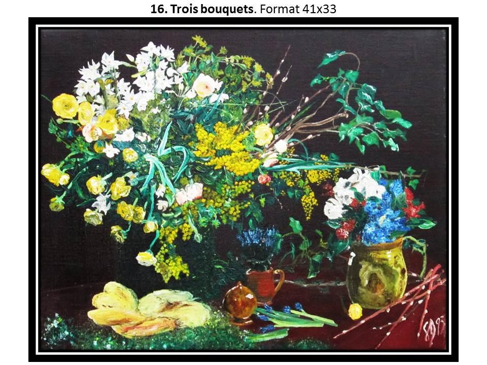 16 trois bouquets