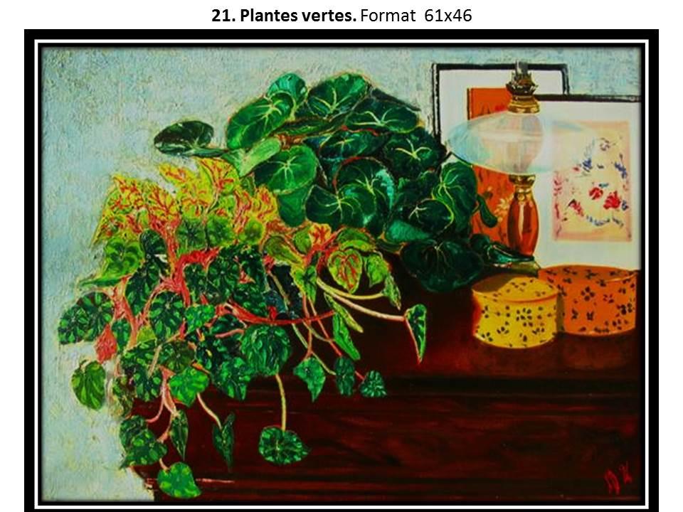21 plantes vertes