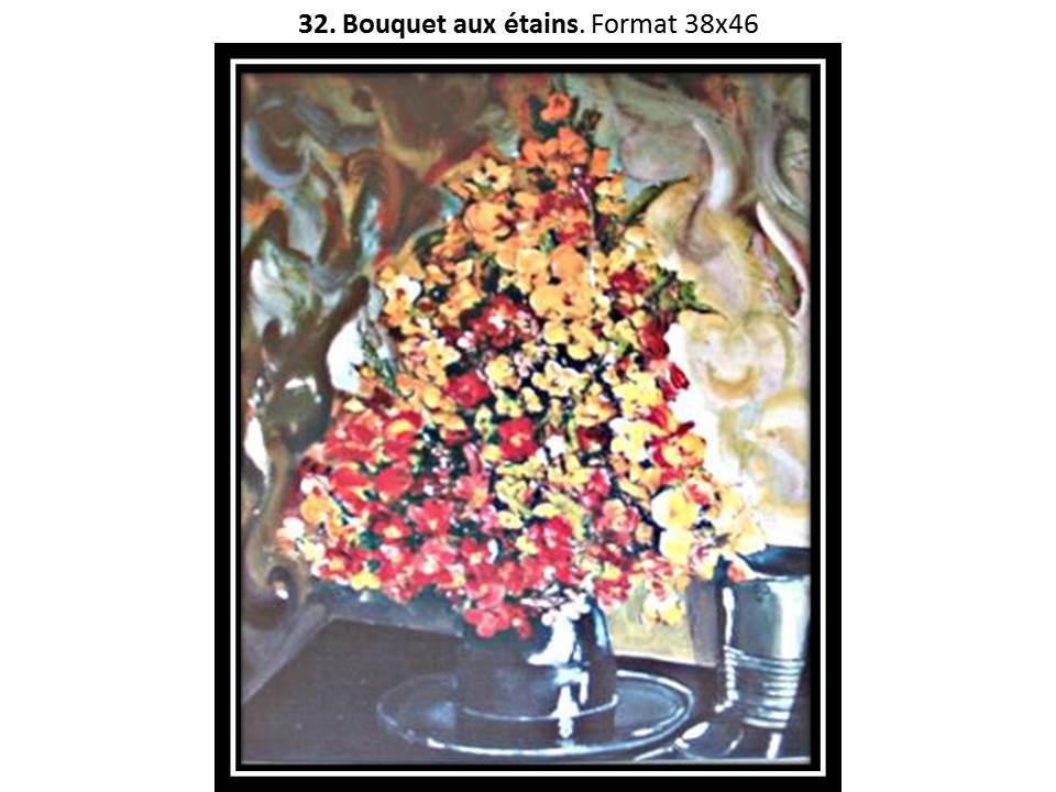 32 bouquet aux etains