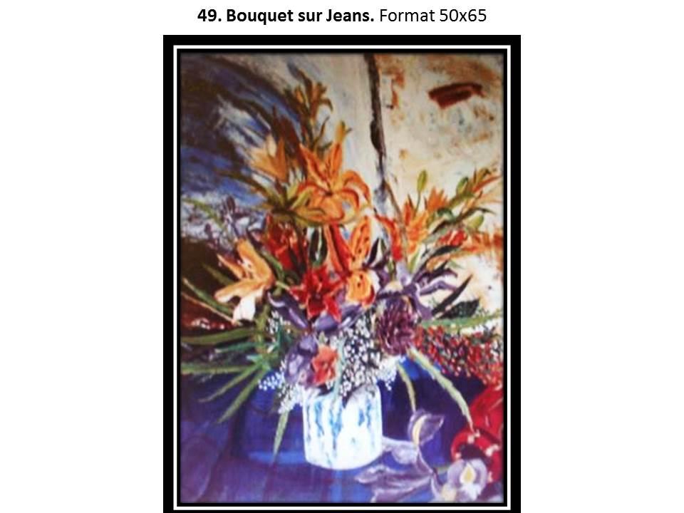 49 bouquet sur jeans